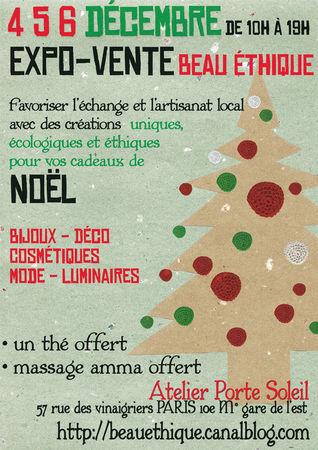 Les marchés de Noël des créateurs ethiques et bio