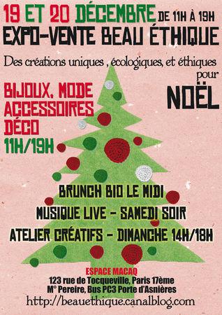 Marché de Noël éthique et Bio Paris 17°