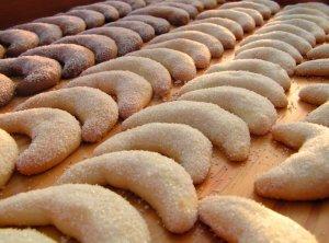 Croissants vanillés ou Vanillekipferl pour Noël